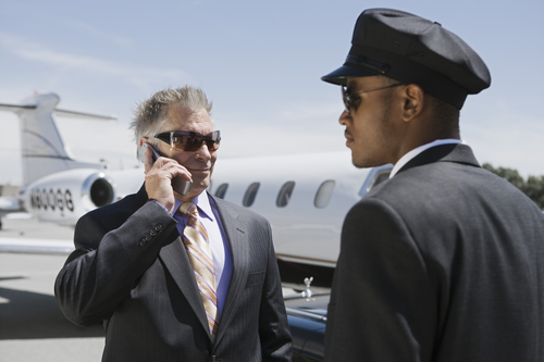 Businessman at the Airport - SD Car Service