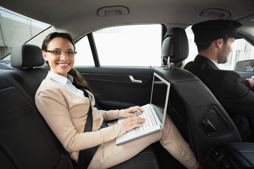 Businesswoman in a car - San Diego car Service