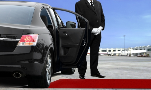 Limo Driver Waiting at the Airport - San Diego Airport Limousine Service