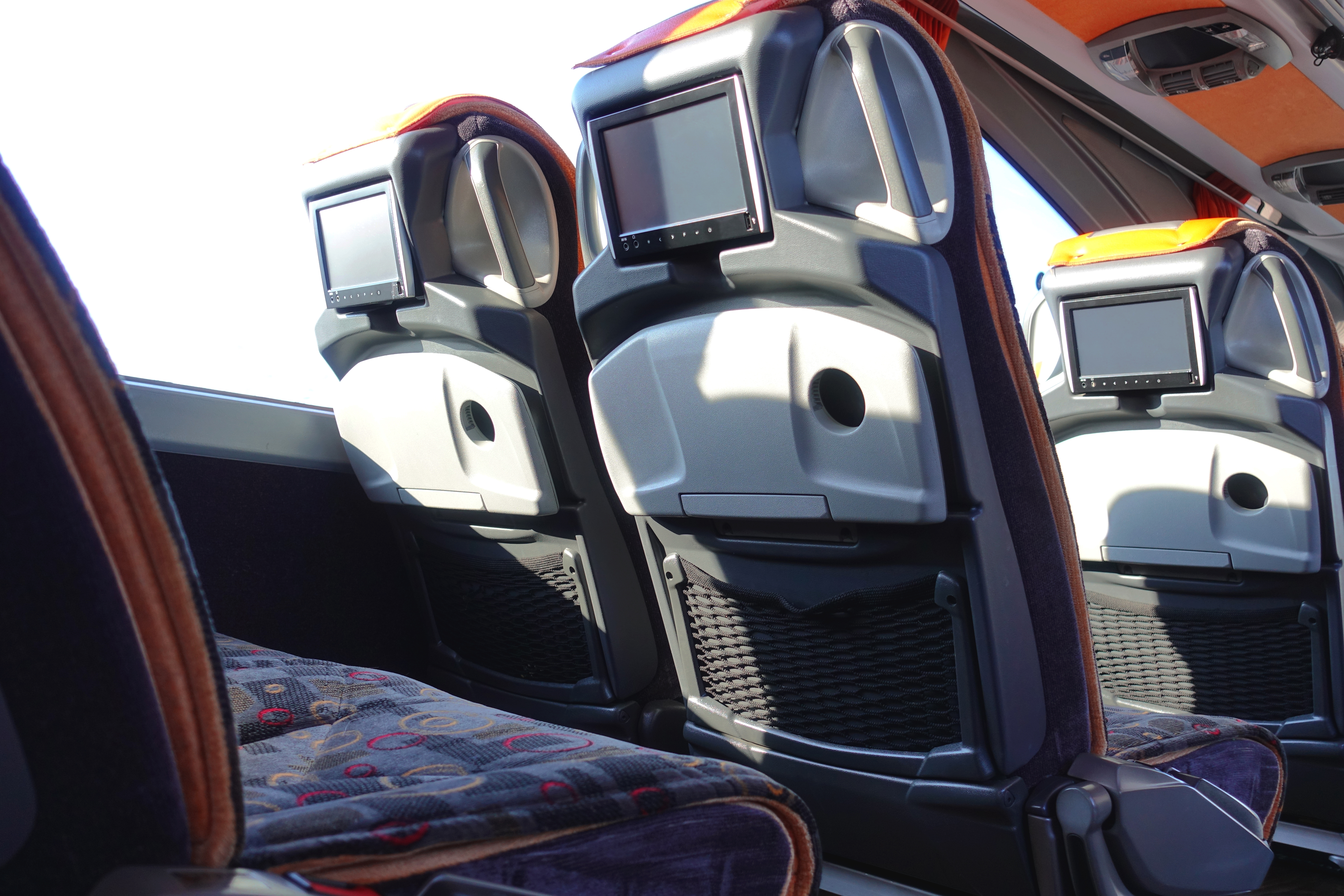 Do charter buses have special amenities